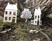 Little Sterling Silver House Pendant