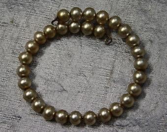 Vintage Wire Coil Bracelet