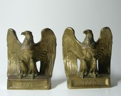 Vintage 1776 Brass Eagle Bookends (Same as Stephen Colbert's)  Etsy Holiday Sale - Gifts Under 50