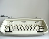 CIJ SALE Vintage Typewriter by Royal, Safari Beige & Ivory, Neutral Mod Minimalism