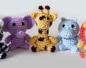 Little Safari Animals - PDF Crochet Pattern - Instant Download