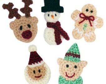 Christmas Applique Set No.2 - PDF Crochet Pattern - Instant Download