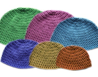 Light Family Beanie Set (6 Sizes) - PDF Crochet Pattern - Instant Download