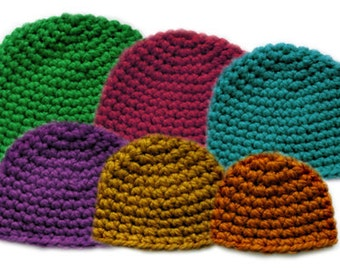 Thick Family Beanie Set (6 Sizes) - PDF Crochet Pattern - Instant Download