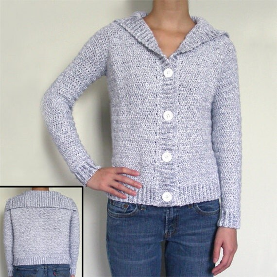 Classic Cardigan Sweater - PDF Crochet Pattern - Instant Download