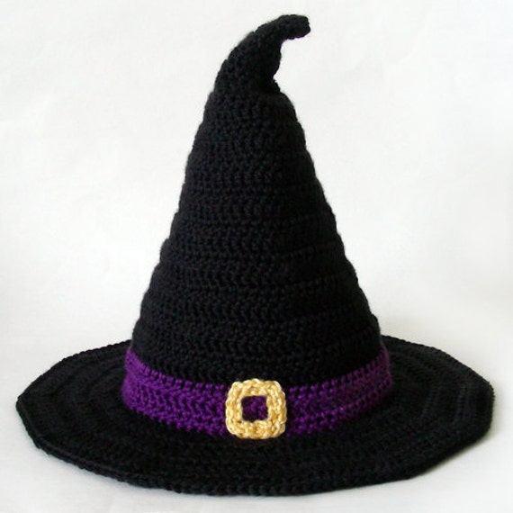 Witch Hat 5 sizes PDF Crochet Pattern Instant Download