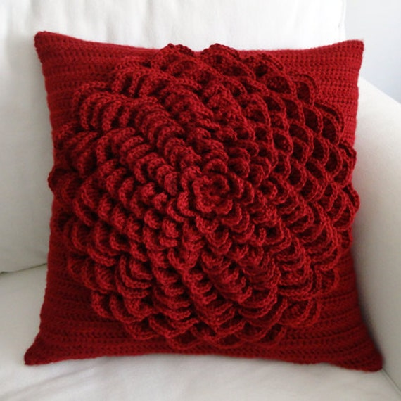 Flower Pillow Cover - PDF Crochet Pattern - Instant Download