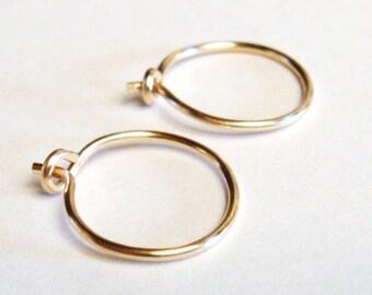 Hoop Earrings  Small Hoop Earrings  14K Gold Filled Hoop Earrings  14K Gold Filled Hoops  Gold Hoop Earrings  14K Gold  14 Karat Gold  Gold