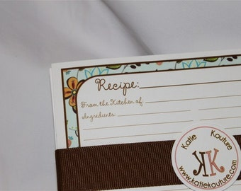 10 Recipe Cards Susies Floral 4x6 (3x5 by request)