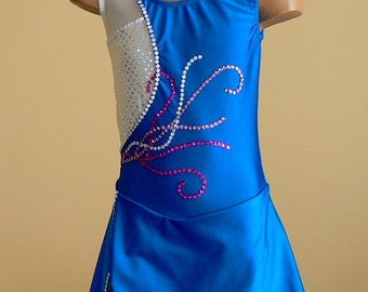 Figure Skating Dress. Competition Dress. Performance Dress. CHOOSE YOUR COLOR.  Sizes 2T - Girls 14