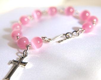 Light Pink Rosary Bracelet