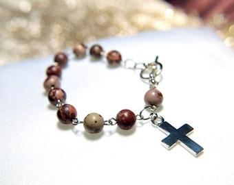 Picture Jasper Rosary Bracelet