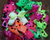 18 Neon Grooming Bows