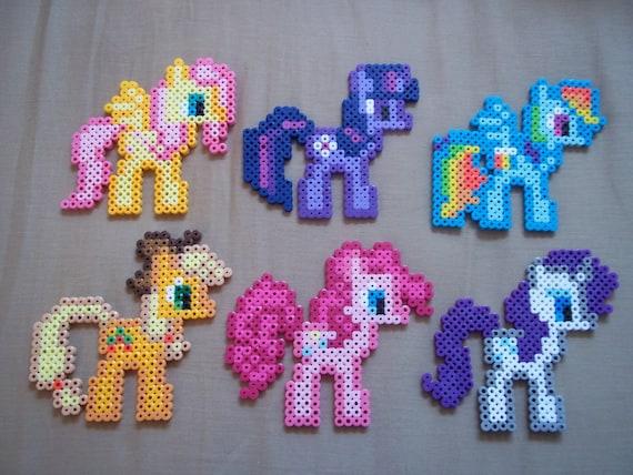 MLP:FIM Perler Magnet--Choose one--Rainbow Dash, Rarity, Twilight Sparkle, Fluttershy, Applejack, or Pinkie Pie
