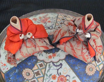 Antique Collectible Japanese Gofun Takeda Ningyo Dolls