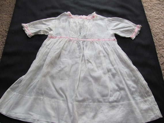 Antique White Baby Dress Christening Gown
