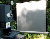 Vintage Movie Projection Screen ca.1970s