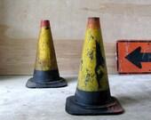 Vintage Pair of Interstate Traffic Cones