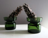 Dansk Stacked Candle Holders-Mid Century Modern Glass