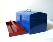 RESERVED-Vintage Industrial Patriotic Themed Tool Box