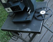 Mid Century Industrial Metal Projector Table