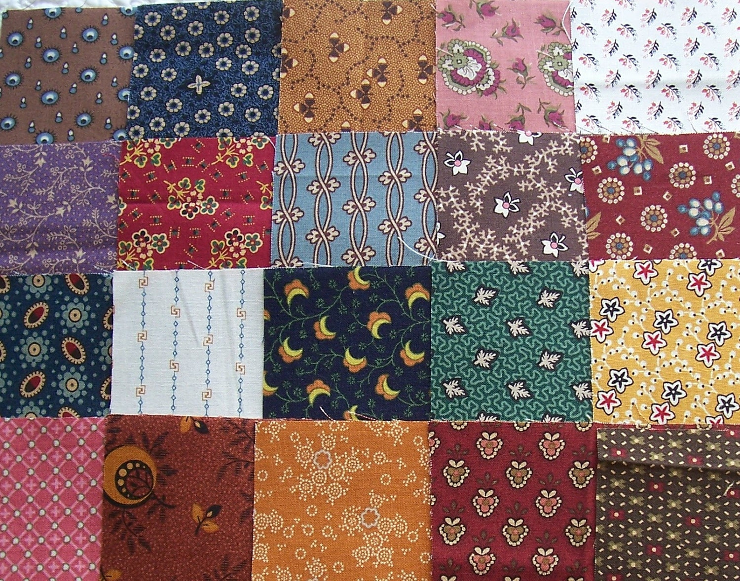 Sixty 5 quilt fabric cuties civil war repro set for Quilting material