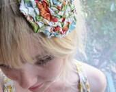 Floral Rosette Hair Comb/Fascinator/Brooch