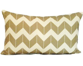 clearance discontinued 50 % off  huge sale chevron pillow cover cream khaki dimensional custom linen throw home decor zig zag