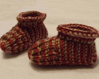 Child Sized Red, Brown and Pink Slippers