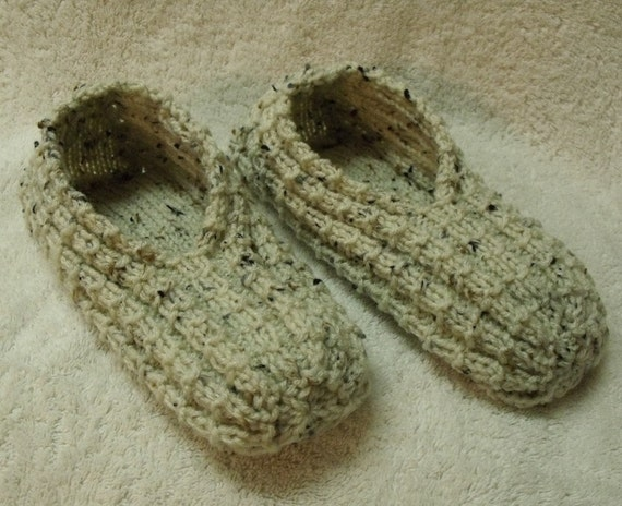 Just Like Grandma Made - Hand Knit Slippers (Any size or color available)