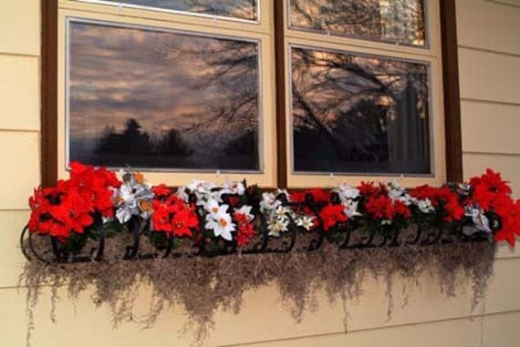60 inch wrought iron window box planter for flowers