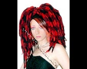 Plaid Faux Roving Dreads Hair Falls FREE Fringe Extensions SUPER SALE MUST GO