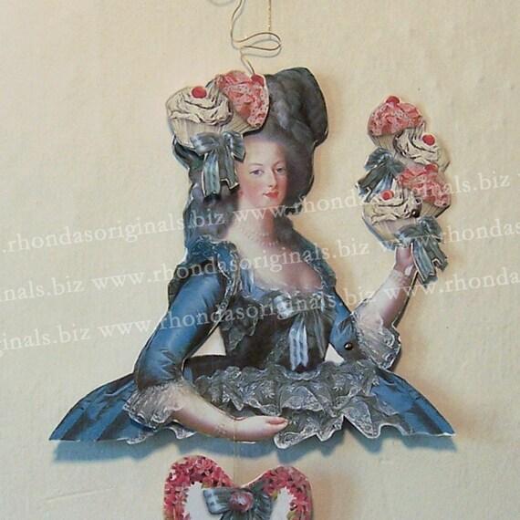 Digital Marie Antoinette Cupcake Paper Doll INSTANT DOWNLOAD - Torso And Other Embellishements For Paper Art, Crafts CS21D