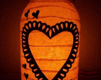 Primitive Valentine Lantern
