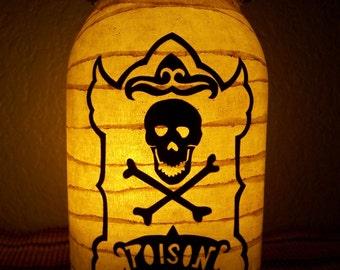 Grungy Primitive Halloween Poison Lantern Light Lunimary Porch Mantel Table Centerpiece Wedding Gift