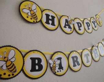 Bumblebee birthday banner
