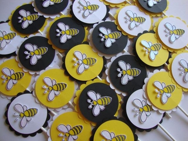 Bumble Bee Cupcake Toppers And Other Party Supplies