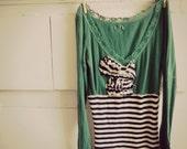 Bonjour Ms. Kathy striped french dress, size small medium