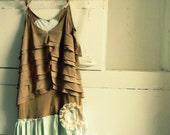 Gypsy upcycled boho ruffled eco friendly dress size medium large-if only i had a heart series