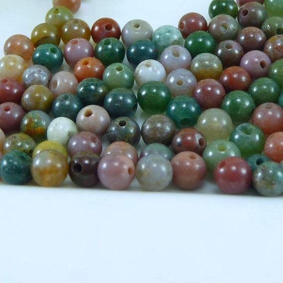 Fancy Jasper 4mm Round - 100 Loose Beads - Destash
