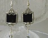 Black Dangle with crystals