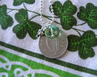 Authentic 1999 IRISH Coin Charm Birth Year Necklace-1999 IRISH 10 pence Ireland Necklace
