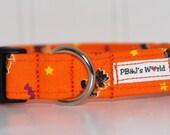 PBJ World Custom Collar...Pumpkin in Flight