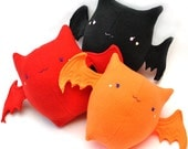 Candy Bat Plush - Orange, Red, or Black