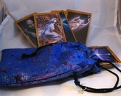 Blue Glitter Star Tarot Bag
