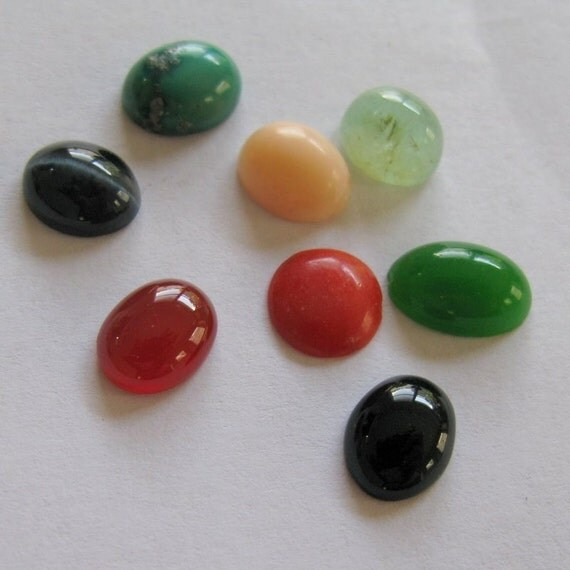 Eight Cabochon Stones