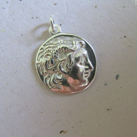 Greek Coin Sterling Pendant