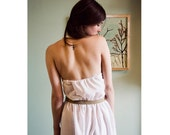 Vintage white halter dress  Size s-m
