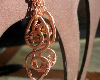 Twin Spirit Copper Earrings