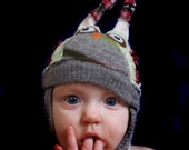 CUSTOM wee hOOt Hat.  an upcycled owl hat made just for you.